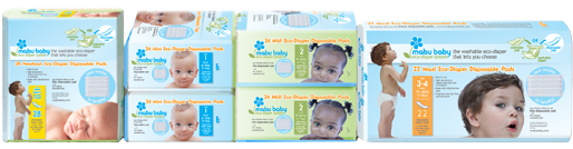 Mabu Baby Eco-Diaper Disposable Packaging